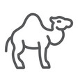 camel line icon arab and animal mammal sign vector image vector image
