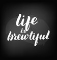 chalkboard blackboard lettering life is vector image vector image