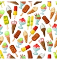 Chocolate and fruit ice cream seamless pattern vector image vector image