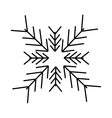 christmas snowflake isolated icon vector image