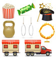 Circus Icons Set 2 vector image