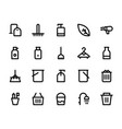 cleaning icons 2 vector image vector image