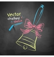 Color chalk drawn school bell vector image vector image