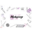 cosmetics products fashion makeup banner vector image vector image