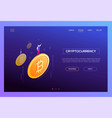 cryptocurrency concept - modern isometric vector image vector image