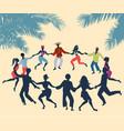 cuban rueda or group people dancing salsa in a vector image vector image