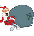 Cute Santa Claus and a Sack Full vector image vector image