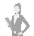 default placeholder businesswoman half-length por vector image vector image