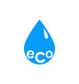 eco drop icon vector image