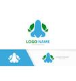 ent clinic logotype design template blue nose vector image vector image