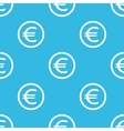 Euro sign blue pattern vector image vector image