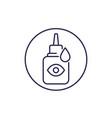 eye drops bottle line icon vector image vector image