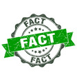 fact stamp sign seal vector image vector image