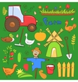 farm cute set in doodle style vector image vector image