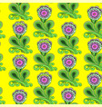 flower pattern on yellow background vector image