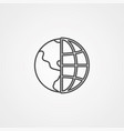 globe icon sign symbol vector image