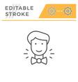 groom editable stroke line icon vector image vector image