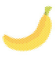 halftone dot banana icon vector image