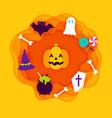 halloween paper cut vector image