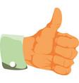 hand thumb up icon flat vector image vector image