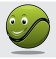 Happy bouncy green cartoon tennis ball vector image vector image