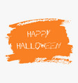 happy halloween hand paint orange watercolor vector image vector image