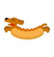 hot dog dachshund pet animal hotdog vector image vector image
