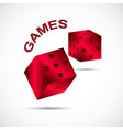 icon of games in color vector image