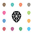 isolated wealthy icon diamond element can vector image vector image