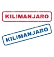 Kilimanjaro Rubber Stamps vector image vector image
