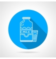 Line icon for milk bottle and glass vector image vector image