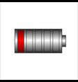 low battery battery charging status vector image