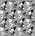 modern leafy seamless pattern floral vector image vector image