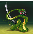 Poisonous snake with saber vector image vector image