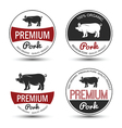 Pork label 3 vector image vector image