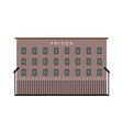 prison building flat icon vector image