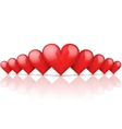Realistic Red Romantic Hearts Background vector image vector image