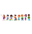 school children multiethnic boys and girls in vector image