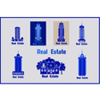 Set of icons Real Estate vector image vector image