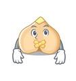 silent chickpeas mascot cartoon style vector image vector image