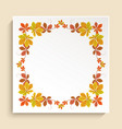 square frame with autumn leaves border vector image