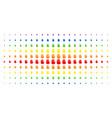stop hand spectrum halftone matrix vector image vector image
