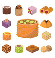 sweets east delicious dessert food vector image vector image