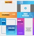 training online courses education video tutorials vector image