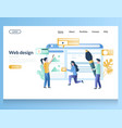 web design website landing page template vector image vector image