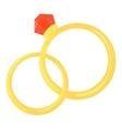 Wedding rings icon cartoon style vector image vector image