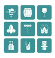 Wine Icon Collection vector image vector image
