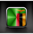 Zambia icon flag national travel icon country vector image vector image