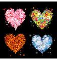 Four seasons heart - spring summer autumn winter vector image