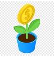 Money tree isometric 3d icon vector image